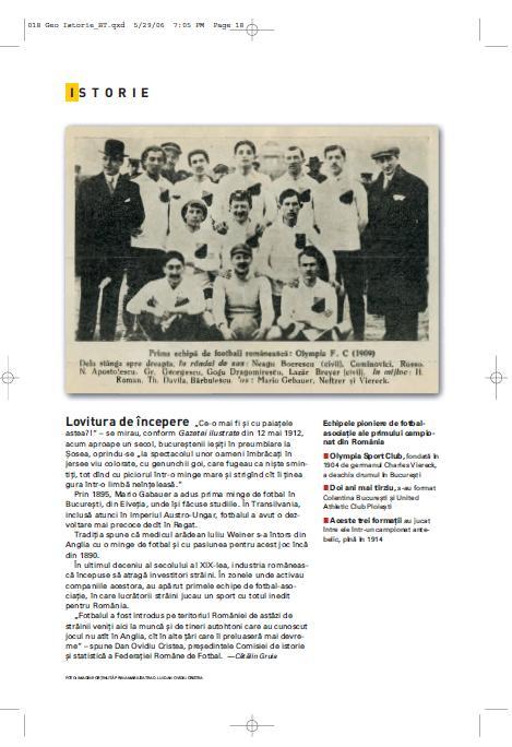 Istorie fotbal