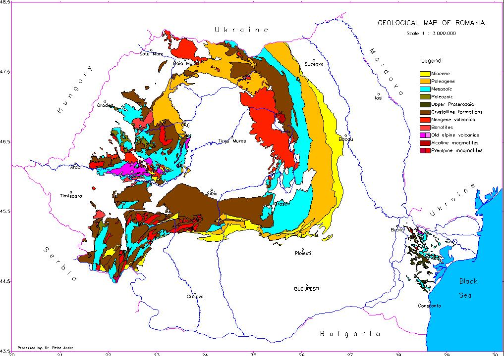 harta geologica